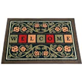 "Ottomanson Ottohome Collection Rectangular Welcome Doormat (Machine-Washable/Non-Slip), Multicolor, 20"" X 30"""
