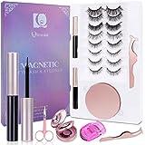 Magnetic Eyelash kit, Magnetic eyelashes, 8+2 Pairs Magnetic eyelashes with Portable Lashes Storage Case, Eyelash Curler, Twe
