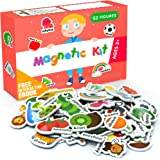 X-bet MAGNET Foam Magnets for Toddlers - Refrigerator Magnets for Kids - Baby Magnets for Refrigerator and Whiteboard with Zo