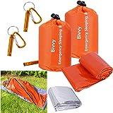 Xtextile 2Pack Emergency Sleeping Bags Lightweight and Compact Sack Survival Sleeping Bag Waterproof Thermal Emergency Bags S