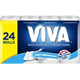 Viva Paper Towel, White, 24 Rolls, 60 Sheets Per Roll (3 x 8 Pack) - Packaging May Vary