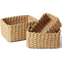 LA JOLIE MUSE 収納ボックス 収納バスケット 編み込み 食器棚用 再生紙 ロープ 容器 整理 整頓 引き出し…