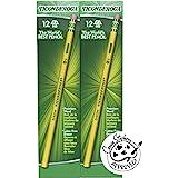Dixon Ticonderoga Wood-Cased #2 HB Pencils, 8 Boxes, 96 Pencils Total, Yellow (13872)