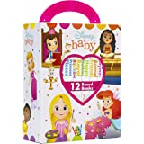 Disney Baby Princess Cinderella, Belle, Ariel, and More! - My First Library Board Book Block 12 Book Set - PI Kids