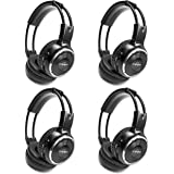 4 Pack of Wireless Infrared Two-Channel Foldable Headphones Universal Rear Entertainment System Infrared Headphones for in Ca