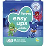 Pampers Easy Ups Training Underwear Boys Size 4 2T-3T 25 Count(Packaging May Vary)