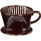 カリタ Kalita コーヒー ドリッパー 陶器製 1~2人用 ブラウン 101-ロト #01003