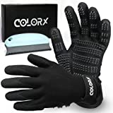 ColorX Pet Grooming Glove & Brush Set - Pet Hair Remover for Cat and Dog - Premium Pet Gloves for Hair Removal,Brush for Shed