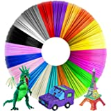 AUK 3D Pen Filament Refills,3D Filament PLA 1.75mm,20 Default Colors Each Color 16.4 Feet Total 328 Feet,No Smells Filament f