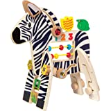 Manhattan Toy Safari Zebra Wood Activity Toy