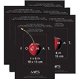 MCS 4 by 6-Inch Format Frame, Black, 6 Pack
