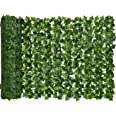 DearHouse Artificial Ivy Privacy Fence Screen, 94.5x39.4in Artificial Hedges Fence and Faux Ivy Vine Leaf Decoration for Outd