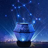 Star Night Lights for Kids - Star Projector with USB Cable, 360°Rotating Planet Night Lighting Lamps Sky Galaxy Constellation