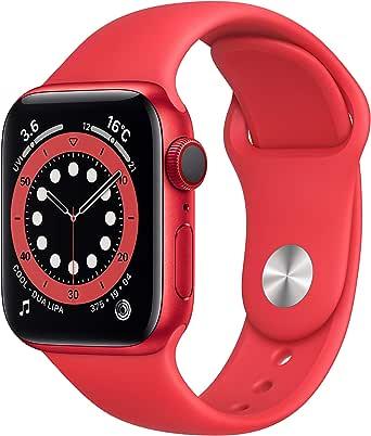 最新 AppleWatch Series 6(GPS + Cellularモデル)- 40mm (PRODUCT)REDアルミニウムケースと(PRODUCT)REDスポーツバンド