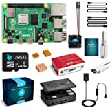 LABISTS Raspberry Pi 4 4B-64GB(技適マーク入)MicroSDHCカード64G/Raspbianシステムプリインストール/カードリーダ /5.1V/3A Type-C スイッチ付電源/MicroHDMI-to-HDMIケー