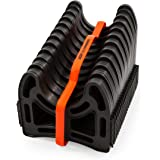 Camco 20 Ft (43051) Sidewinder RV Sewer Hose Support, Made From Sturdy Lightweight Plastic, Won't Creep Closed, Holds Hoses i