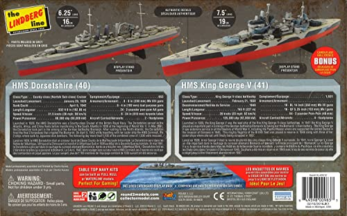 プラッツ 1/1200 イギリス海軍 戦艦 キングジョージ5世 & 重巡洋艦 ドーセットシャー 2艦セット プラモデル HL439