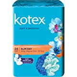 Kotex Soft and Smooth Slim Wing Feminine Care Pads, 24cm, 26ct
