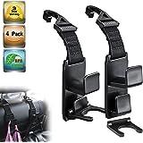 Heroway Magic Headrest Hooks for Car, Purse Hanger Headrest Hook Holder for Car Seat Organizer Behind Over the Seat Car Hooks