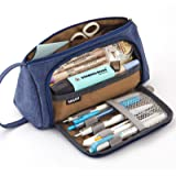EASTHILL Pencil Case Big Capacity Pen Pouch Storage Bag Student Teens Girls Adults for School Office Organizer -Blue Purple