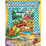 Country Summer: An Adult Coloring Book with 50 Detailed Images of Charming Country Scenes, Beautiful Rustic Landscapes, and L