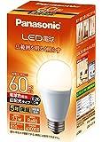 パナソニック LED電球 口金直径26mm 電球60W形相当 電球色相当(7.3W) 一般電球・広配光タイプ 1個入り…