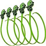 Green Gobbler Hair Grabber Tool Drain Snake Hair Clog Remover Drain Opener for Sinks Tubs and Showers, Pack of 5