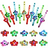 SCIONE Halloween Christmas Party Favors 48 Pack Light Up Bracelets Party Favors for Kids Boys Girls Adults Glow in The Dark P