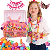 Pop Beads Jewellery Kits for Girls, Colourful Toy Jewellery Making, Arts & Crafts for Kids, age 4-8, Necklace, Ring, Bracelet