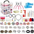 Jewellery Making Kit,Jewellery Making Supplies Includes Jewellery Pliers, Beading Wire, Jewellery Beads and Charms Findings f