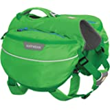 RUFFWEAR Hiking Pack for Dogs, Medium Sized Breeds, Adjustable Fit, Size: Medium, Meadow Green, Approach Pack, 50102-345M
