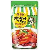 Sempio Korean Spicy Rice Cake (Topokki) Sweet and Mild Spicy Sauce, 150g