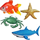 Jet Creations Inflatable Ocean Life Sea Underwater Assorted Bathtub Toys Educational, OCEAN02, 4 Count
