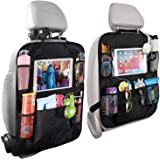 Home-Mart Car Organisers,2 Pack Car Back Seat Organiser for Kids,Car Seatback Protector with 10inch Tablet Holder,Backseat Ki