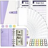 A6 Binder, Money Organizer for Cash, 26Pcs Budget Binder with Cash Envelopes, Budget Binder Money Saving Binder Cash Envelope