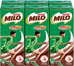 MILO UHT Chocolate Malt Packet Drink, 200ml (Pack of 6)