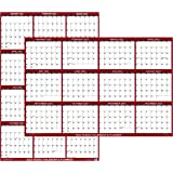 """24"""" x 36"""" SwiftGlimpse 2022 Wall Calendar Erasable Large Wet & Dry Erase Laminated 12 Month Annual Yearly Wall Planner, Rever"""