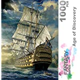 Ingooood- Jigsaw Puzzles 1000 Pieces for Adult- Fantasy Series- Age of Discovery_IG-0398 Entertainment Wooden Puzzles Toys