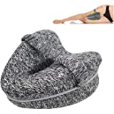 Knee Pillow, TERSELY Orthopedic Memory Foam Wedge for Side Sleepers,Leg Positioner Pillows Leg Pillow for Back, Hip, Legs & K
