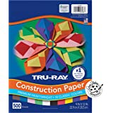 """Pacon Tru-Ray Construction Paper 500-Count 9""""x12"""" Assorted Colors"""
