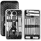 18 in 1 Manicure Pedicure Kit Nail Clipper Tools Set, T Tersely Stainless Steel Professional Nail Clipper Travel & Grooming K