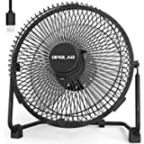 OPOLAR 9 Inch Metal Desk Fan, Enhanced Airflow, Lower Noise, USB Powered ONLY, Two Speeds, Perfect Personal Cooling Fan for H