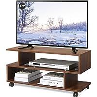WLIVE テレビ台 テレビボード ローボード キャスター付き 幅80×奥行30×高さ39cm 24-37V対応 キャス…