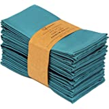 Ruvanti Cotton Dinner Napkins 12 Pack, Cloth Napkins Soft and Comfortable - Deluxe Hotel Quality Linen Napkins - Perfect Tabl