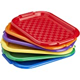 ECR4Kids Colorful Plastic Art Trays for Kids, Arts and Crafts Organizer, Multipurpose Activity Trays for Paint, Beads, Slime