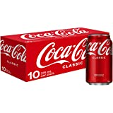 Coca-Cola Classic Soft Drink Multipack Cans, 10 x 375 ml (Packaging may vary)