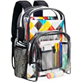 Vorspack Clear Backpack Heavy Duty PVC Transparent School Backpack with Reinforced Strap Stitches & Large Capacity for Colleg