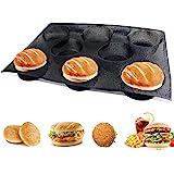 Hamburger Bun Pan, Mesh Silicone Hamburger Bun Mold, Non Stick Baking Pan for Making Buns, Great Perforated Bakery Molds for