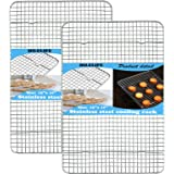 HILELIFE Stainless Steel Cooling Rack - 2 Pcs Baking Rack, 15 x 10 inches Cookie Rack Cooling, Baking Racks Cooling, Narrow G