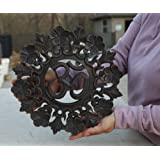 DharmaObjects Handcrafted Wooden Om Wall Decor Hanging Art (OM FLORAL)